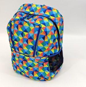 Lands' End ClassMate Medium Backpack Rainbow Geo